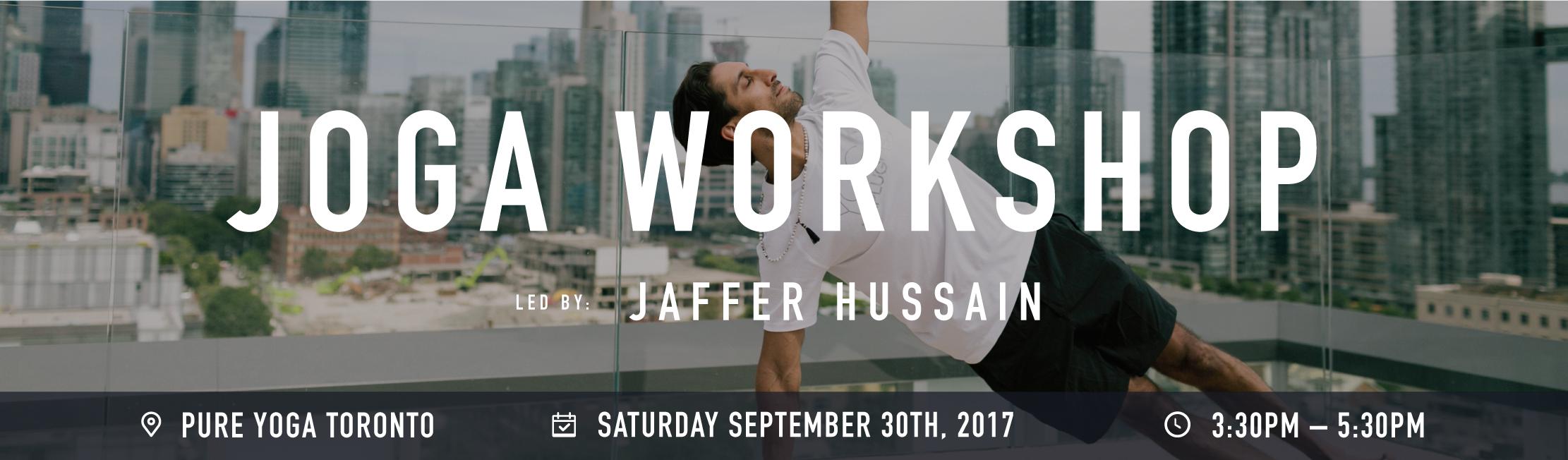 Joga workshop banner