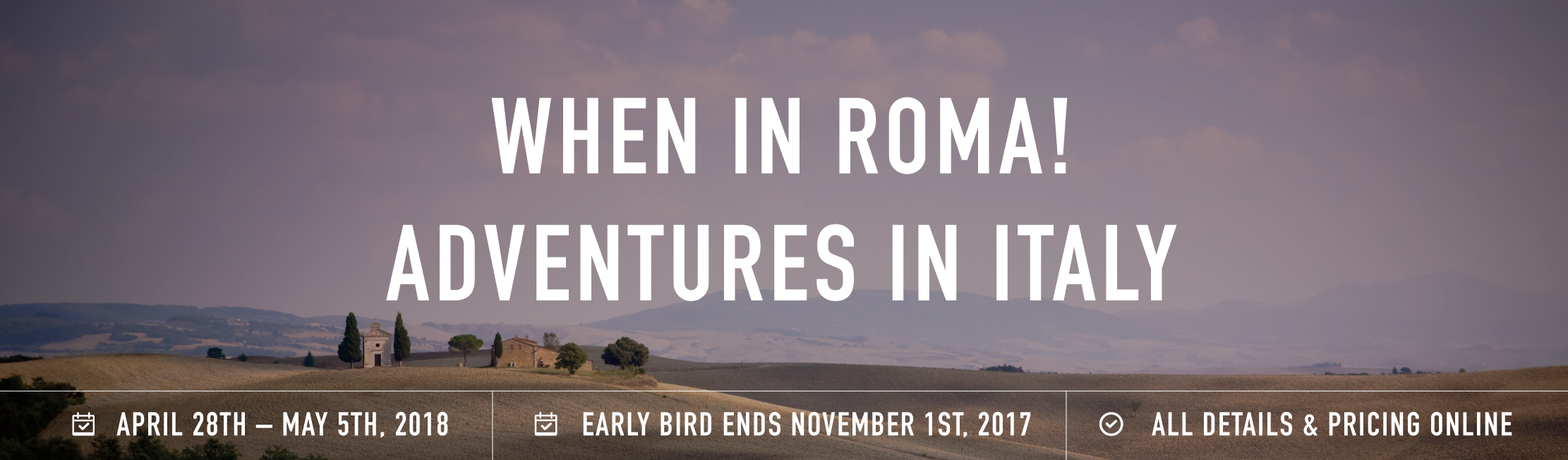 Roma retreat banner