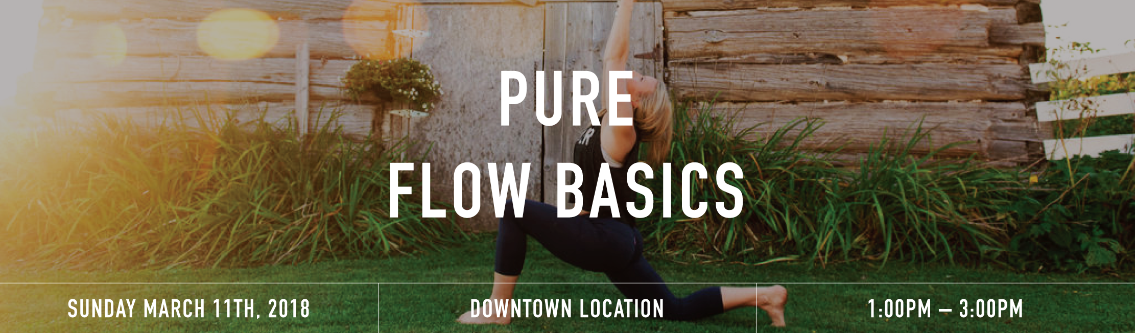 Pure flow basics banner