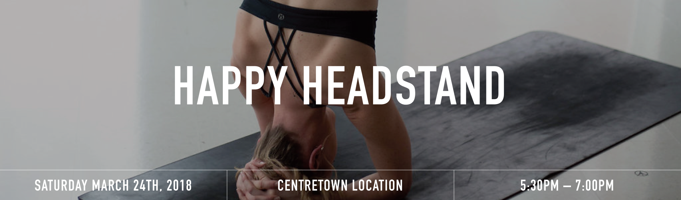 Happy headstand banner