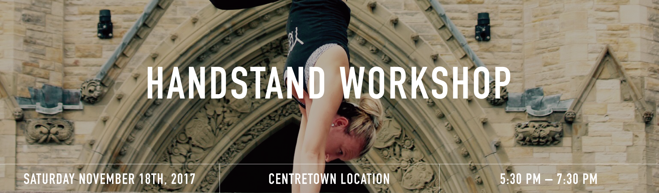 Handstand workshop banner