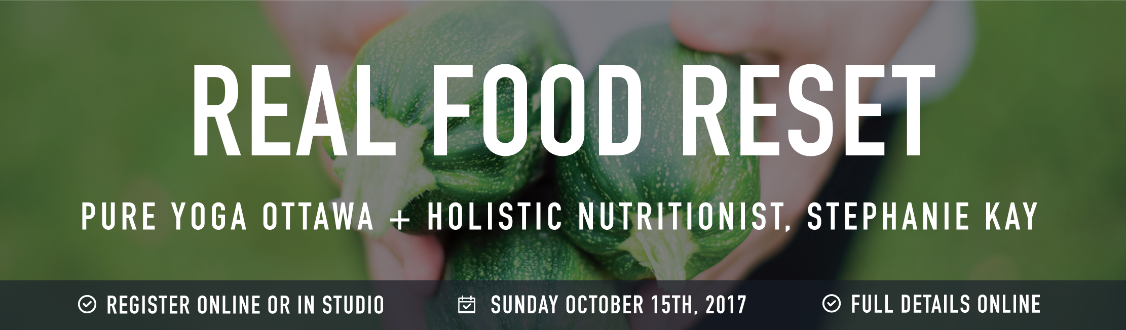 Real food reset banner