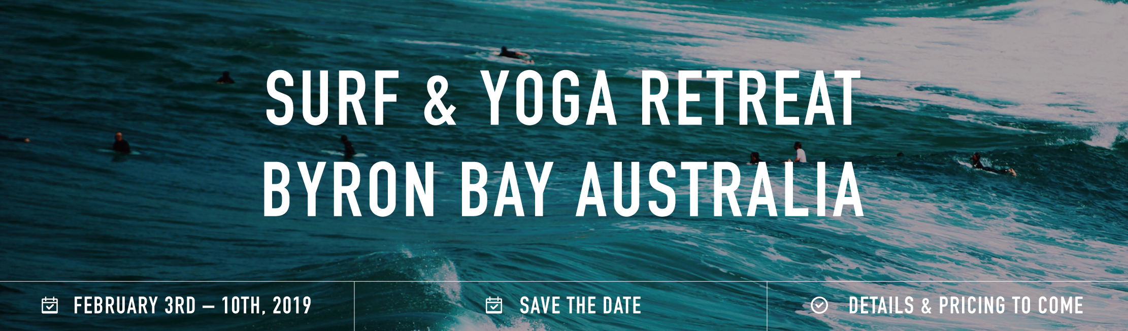 Byron bay retreat banner