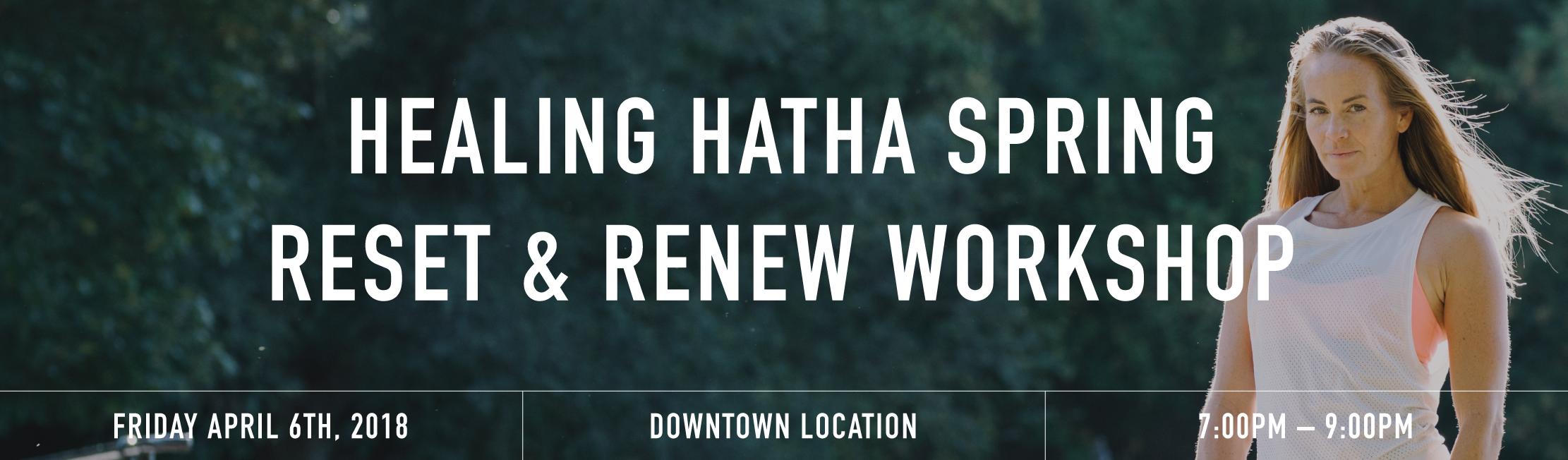 Healing hatha banner