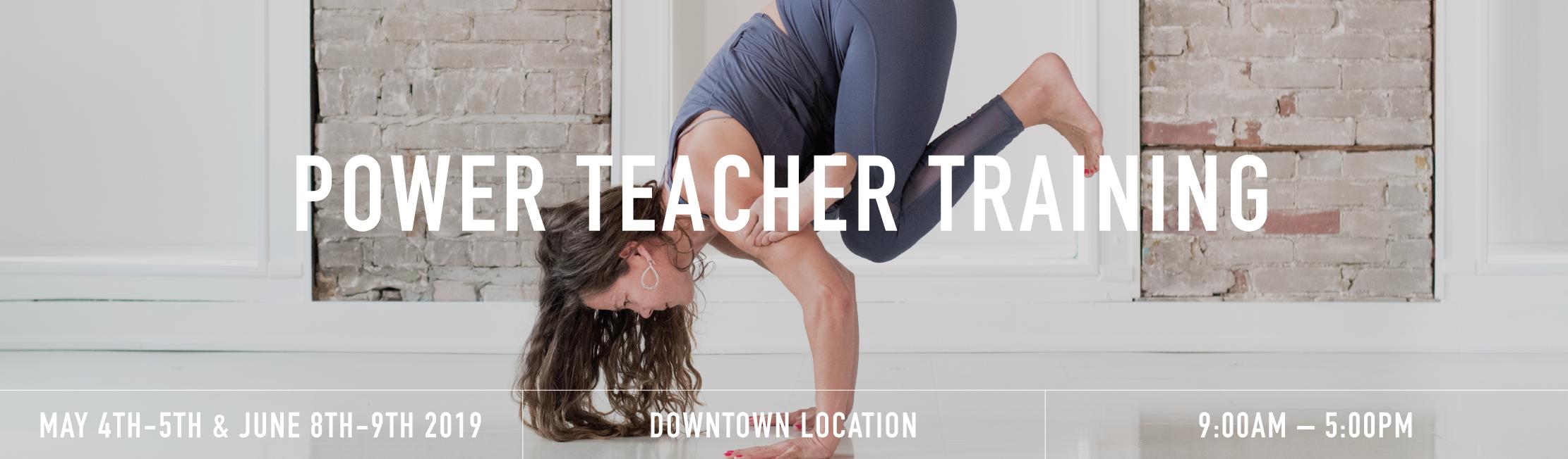 Power teacher training banner