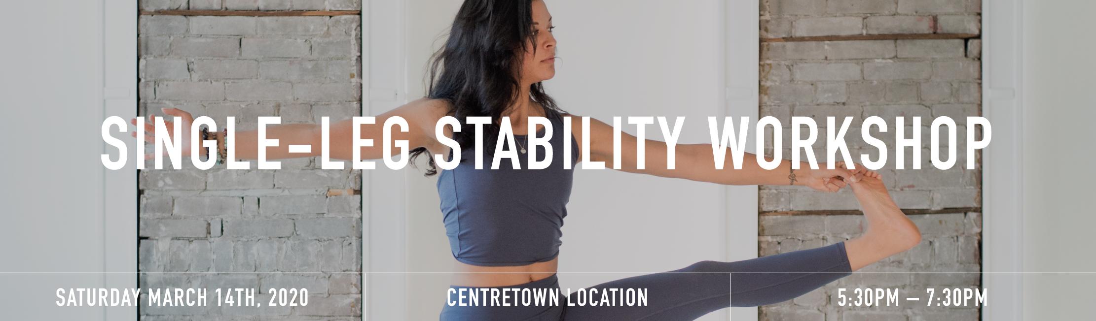 Single leg stability banner