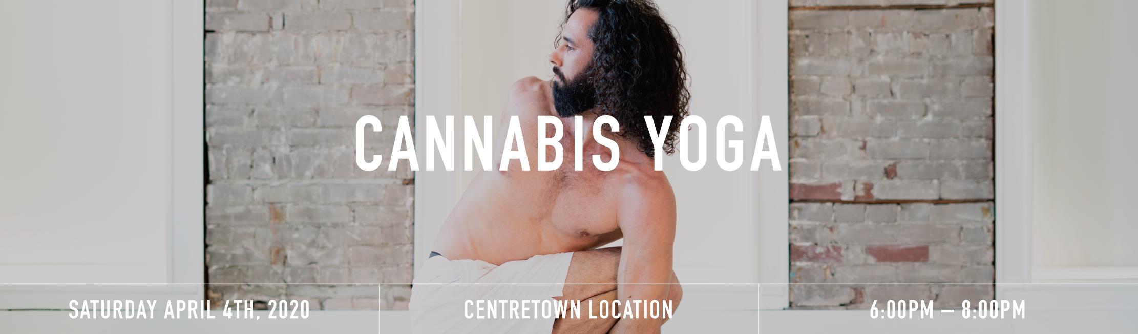 Cannabis yoga banner 2