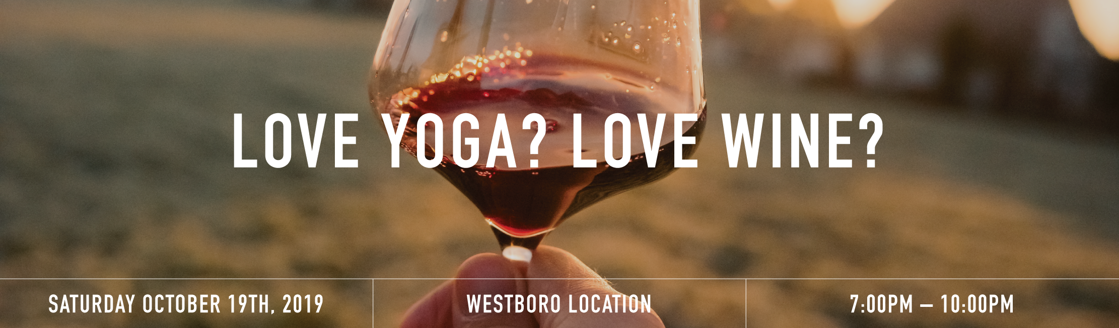 Wine yoga banner