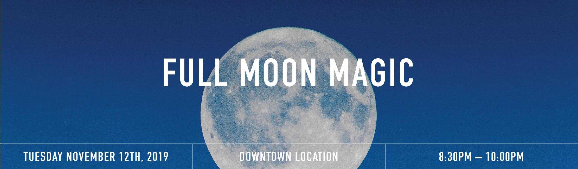 Full moon banner