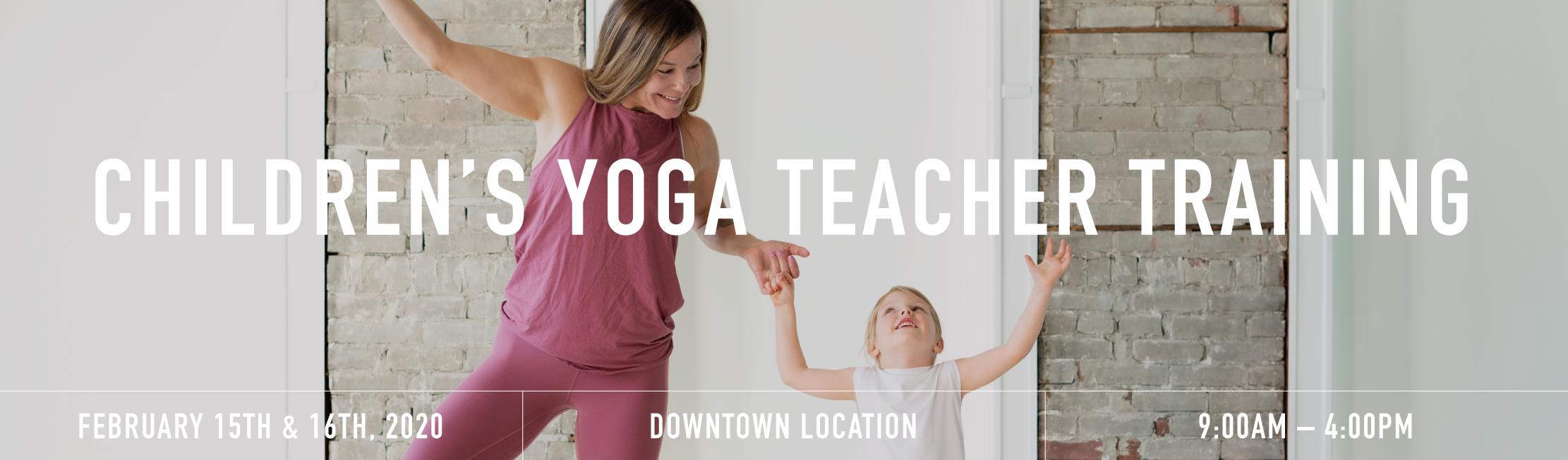 Children yoga teacher training banner