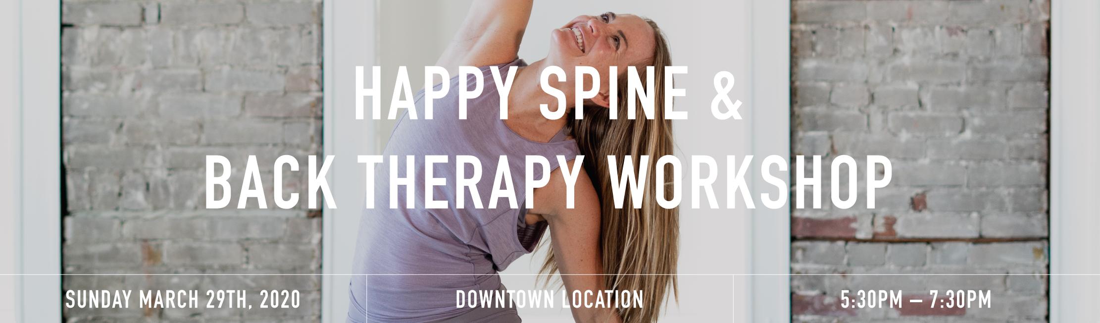 Happy spine banner