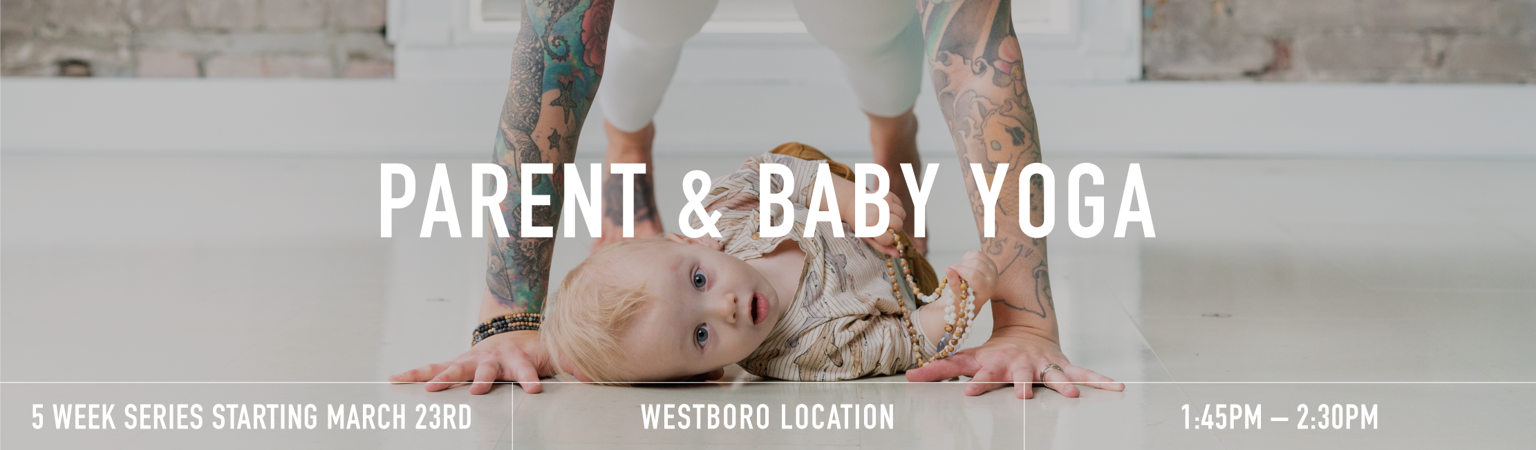 Parent baby yoga banner